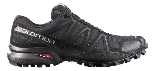 Mens Salomon Speedcross 4 Trail Running Shoe - Black Metallic 12