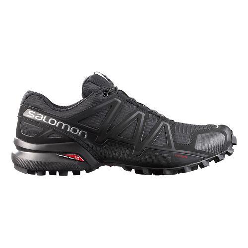 Mens Salomon Speedcross 4 Trail Running Shoe - Black/Metallic 8.5