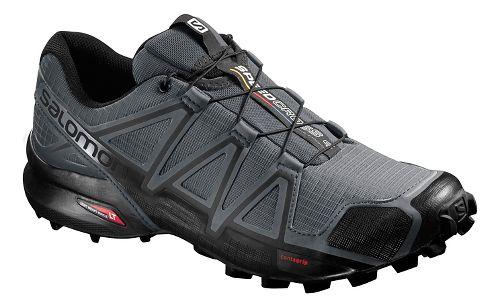 Mens Salomon Speedcross 4 Trail Running Shoe - Grey/Black 10.5