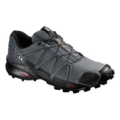 Mens Salomon Speedcross 4 Trail Running Shoe - Black/Grey 12