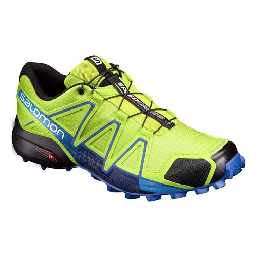 Mens Salomon Speedcross 4 Trail Running Shoe - Lime Green 9.5