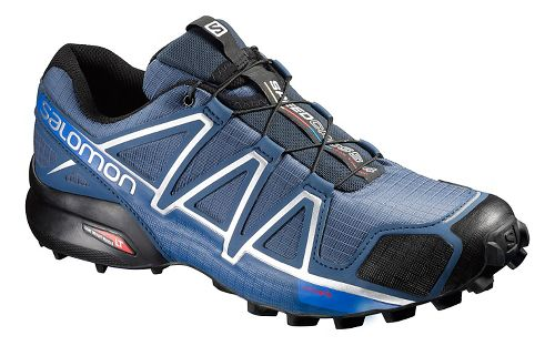 Mens Salomon Speedcross 4 Trail Running Shoe - Slate Blue 7.5