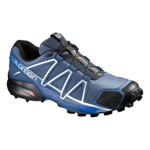 Mens Salomon Speedcross 4 Trail Running Shoe - Slate Blue 10.5