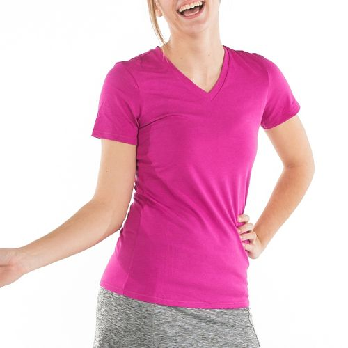 Womens Skirt Sports Don't Sweat It Tee Short Sleeve Technical Tops - Razz L