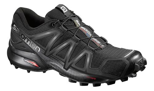 Womens Salomon Speedcross 4 Trail Running Shoe - Black/Metallic 8.5