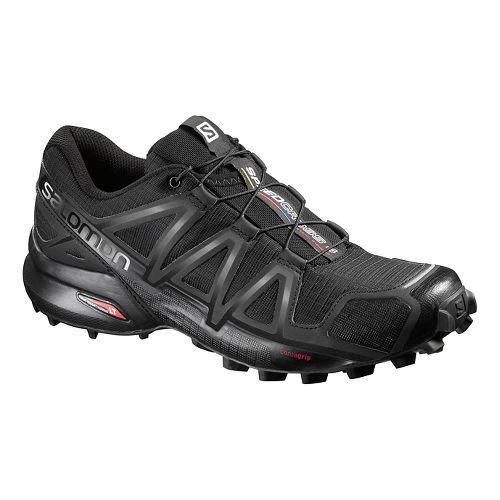 Womens Salomon Speedcross 4 Trail Running Shoe - Black/Metallic 8.5