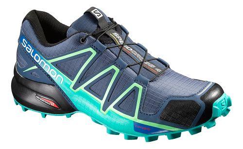 Womens Salomon Speedcross 4 Trail Running Shoe - Slate Blue 10
