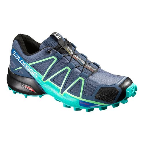 Womens Salomon Speedcross 4 Trail Running Shoe - Slate Blue 10.5