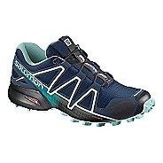 Womens Salomon Speedcross 4 Trail Running Shoe - Black/Metallic 7.5