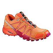 Womens Salomon Speedcross 4 Trail Running Shoe - Navy/Turquoise 5