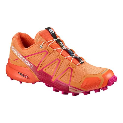 Womens Salomon Speedcross 4 Trail Running Shoe - Nasturtium 11