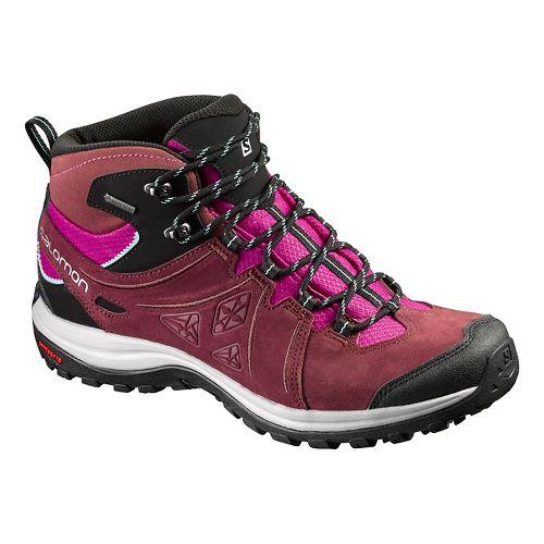 Womens Salomon Ellipse 2 Mid LTR GTX Hiking Shoe - Purple/Blue 7.5