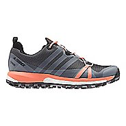 Womens adidas Terrex Agravic GTX Trail Running Shoe - Grey/White/Coral 10.5