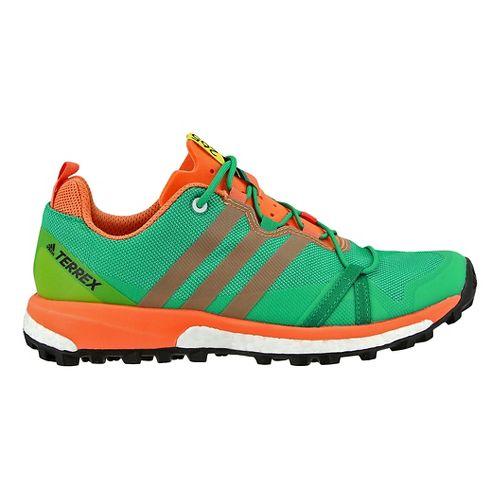 Womens adidas Terrex Agravic Trail Running Shoe - Coral/Green 12