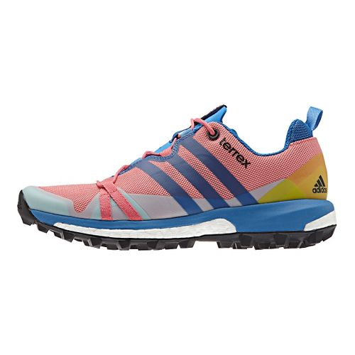 Womens adidas Terrex Agravic Trail Running Shoe - Blush/Blue 7