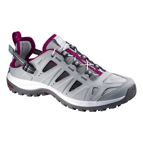 Womens Salomon Ellipse Cabrio Hiking Shoe - Grey/Purple 6