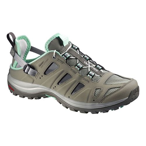 Womens Salomon Ellipse Cabrio Hiking Shoe - Green/Grey 8.5