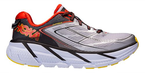 Mens Hoka One One Clifton 3 Running Shoe - Grey/Orange 8.5