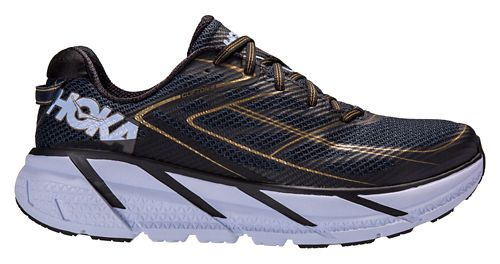 Mens Hoka One One Clifton 3 Running Shoe - Navy/Gold 8