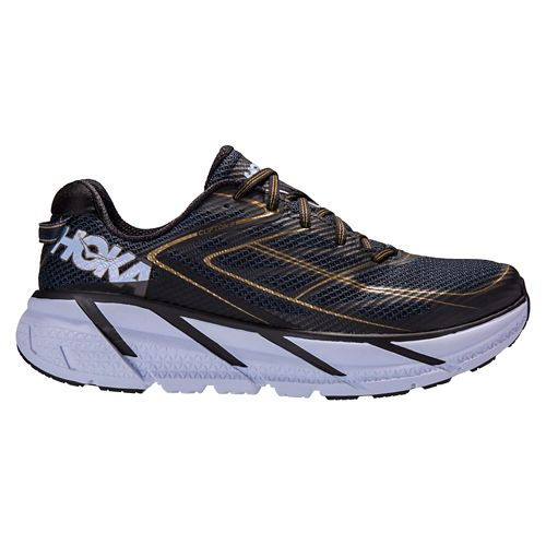 Mens Hoka One One Clifton 3 Running Shoe - Navy/Gold 7.5