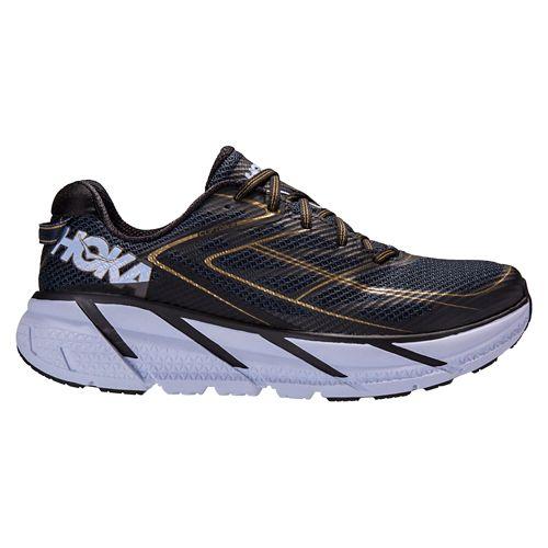 Mens Hoka One One Clifton 3 Running Shoe - Navy/Gold 8.5