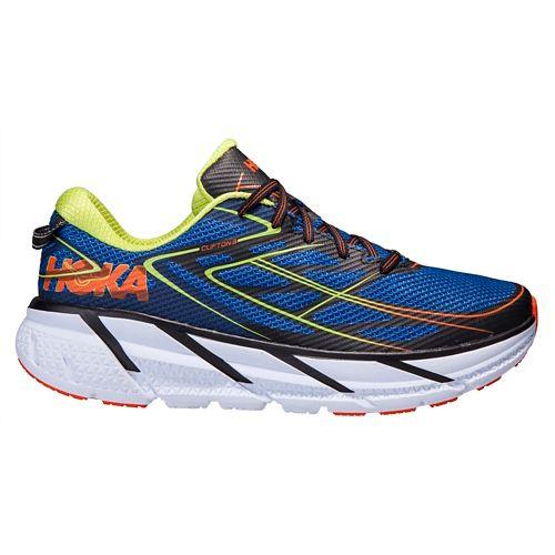 Mens Hoka One One Clifton 3 Running Shoe - Blue/Orange 11.5