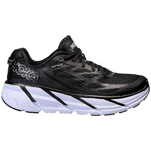 Womens Hoka One One Clifton 3 Running Shoe - Black/White 10