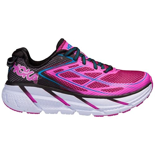 Womens Hoka One One Clifton 3 Running Shoe - Pink/Anthracite 9.5