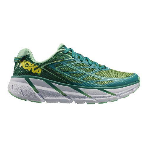Womens Hoka One One Clifton 3 Running Shoe - Green/Spring Bud 5