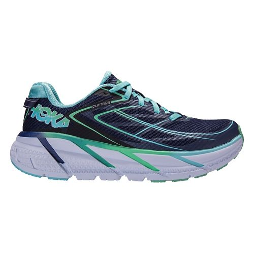 Womens Hoka One One Clifton 3 Running Shoe - Medieval Blue/Mint 5.5