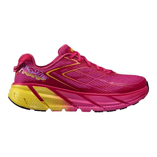 Womens Hoka One One Clifton 3 Running Shoe - Pink/Neon Purple 11