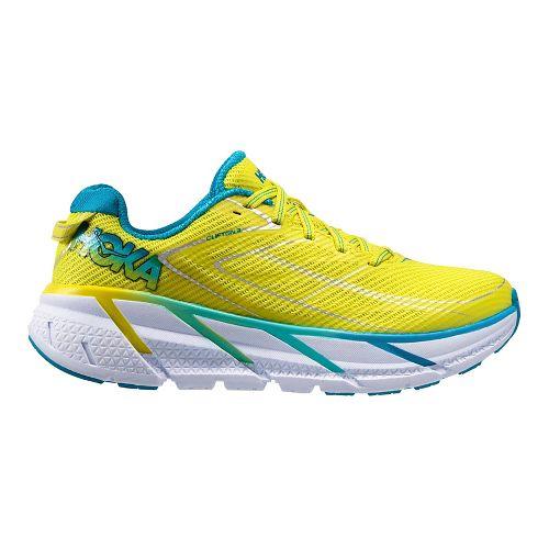 Womens Hoka One One Clifton 3 Running Shoe - Yellow/Blue 11