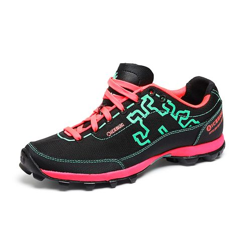 Womens Icebug Acceleritas OCR RB9X LE Running Shoe - Black/Turquoise 6
