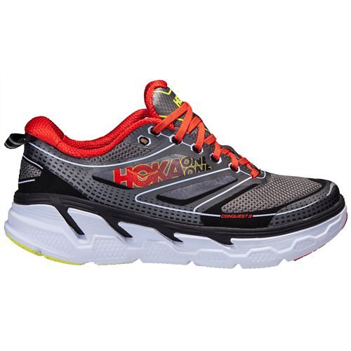 Mens Hoka One One Conquest 3 Running Shoe - Grey/Orange 8.5