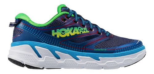 Mens Hoka One One Conquest 3 Running Shoe - Aura/Neon Green 7
