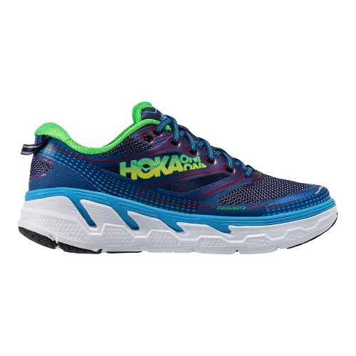 Mens Hoka One One Conquest 3 Running Shoe - Aura/Neon Green 9