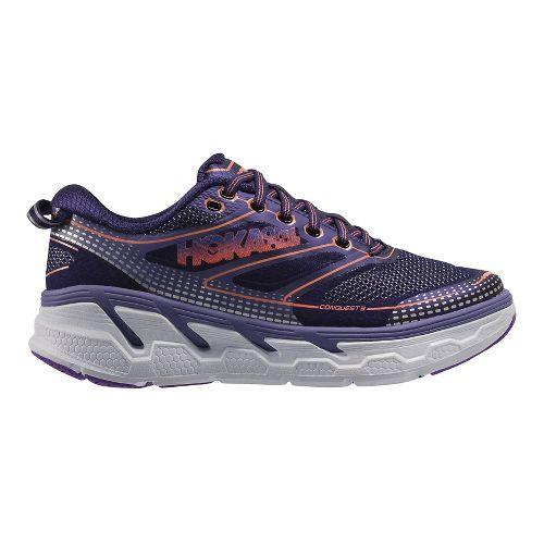 Womens Hoka One One Conquest 3 Running Shoe - Aura/Blue 10.5