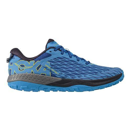 Mens Hoka One One Speed Instinct Trail Running Shoe - Blue/Blue 12