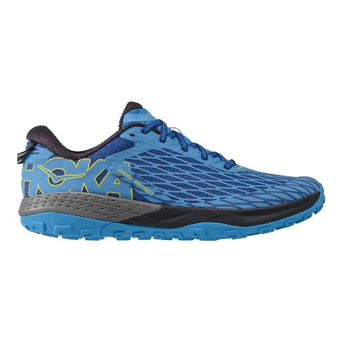 Mens Hoka One One Speed Instinct Trail Running Shoe - Blue/Blue 9