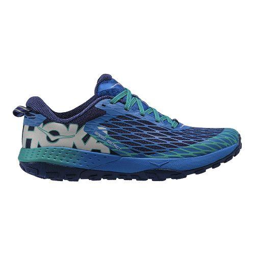 Mens Hoka One One Speed Instinct Trail Running Shoe - Blue/Green 11.5