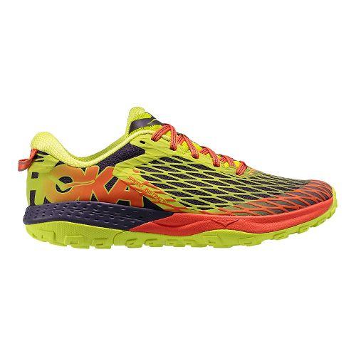 Mens Hoka One One Speed Instinct Trail Running Shoe - Nightshade/Acid 10.5