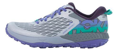 Womens Hoka One One Speed Instinct Trail Running Shoe - Grey/Purple 10