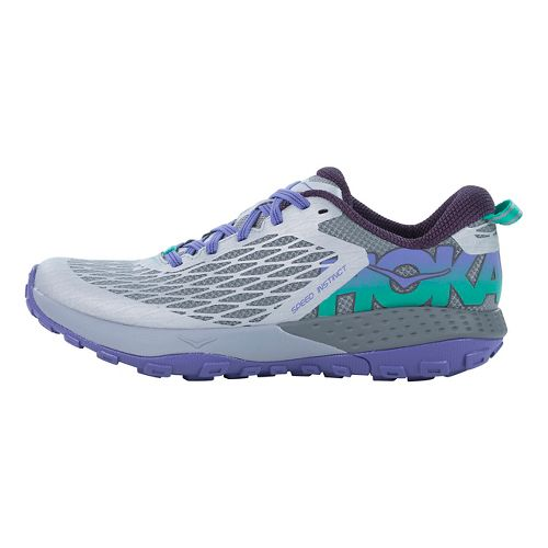 Womens Hoka One One Speed Instinct Trail Running Shoe - Grey/Purple 9.5