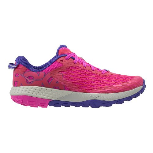 Womens Hoka One One Speed Instinct Trail Running Shoe - Pink/Purple 7