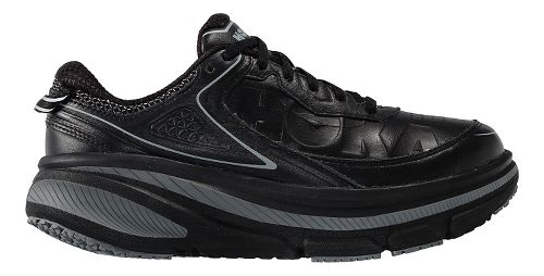 Mens Hoka One One Bondi 4 LTR Walking Shoe - Black/Black 14