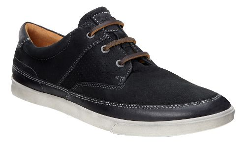 Mens Ecco Collin Nautical Perf Casual Shoe - Black/Black 44