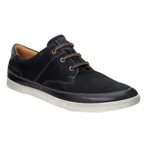 Mens Ecco Collin Nautical Perf Casual Shoe - Black/Black 41