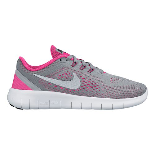 Kids Nike Free RN Running Shoe - Grey/Pink 6Y