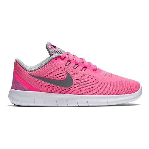 Kids Nike Free RN Running Shoe - Grey/Pink 4.5Y