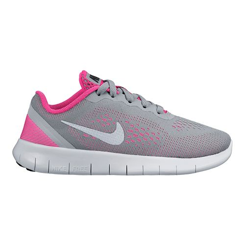 Kids Nike Free RN Running Shoe - Grey/Pink 1Y
